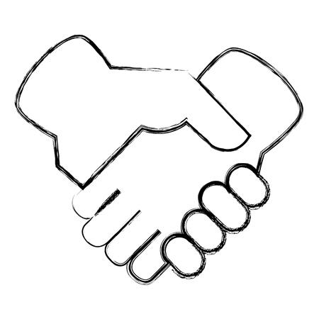 hands done deal icon vector illustration design