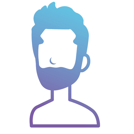 Young man with beard shirtless avatar character vector illustration design. Ilustrace