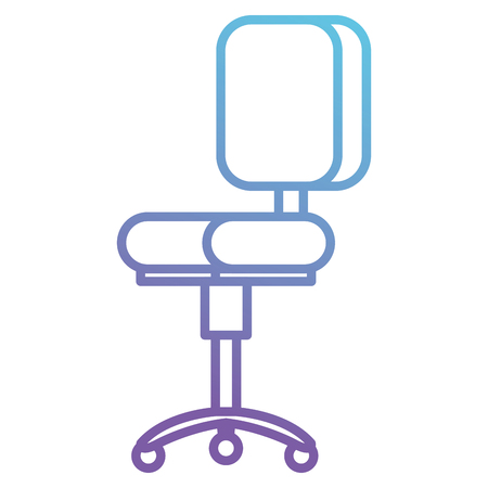 Office chair isolated icon vector illustration design.