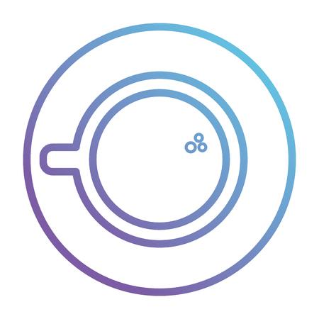 コーヒーカップ孤立アイコンベクターイラストデザイン。