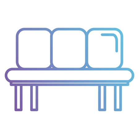 Waiting room chairs icon vector illustration design. Illustration