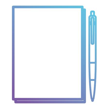 paper document with pen vector illustration design Illustration