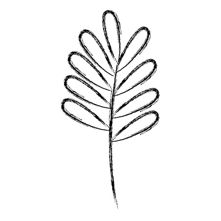 leaf drawing monochrome icon vector illustration design Иллюстрация