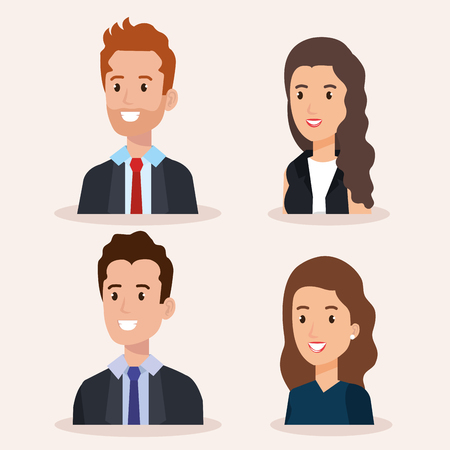 business people group avatars characters vector illustration design Stock Vector - 99998508