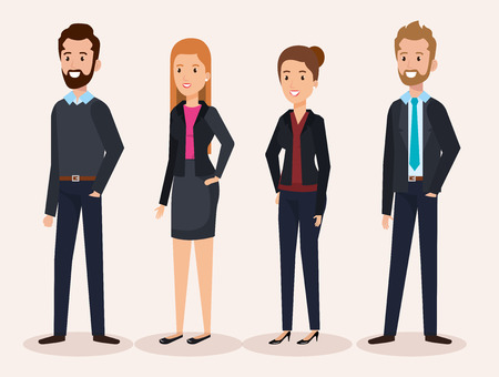 business people group avatars characters vector illustration design Stock Vector - 99998607