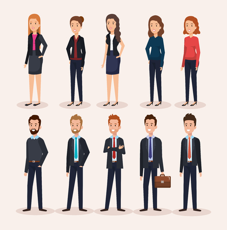 business people group avatars characters vector illustration design Stock Vector - 99996506