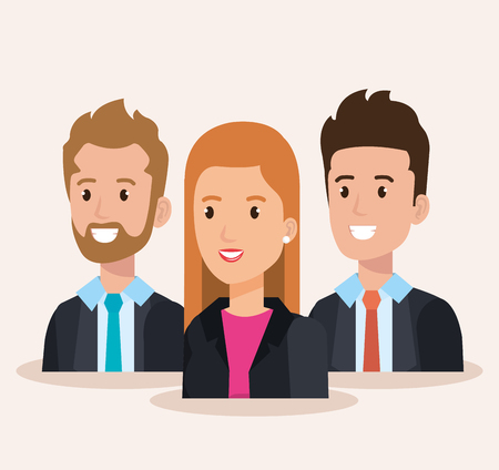 business people group avatars characters vector illustration design Stock Vector - 99996509