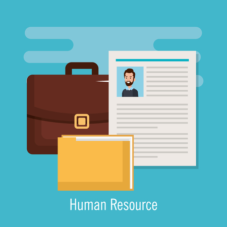 human resources set icons vector illustration design 矢量图像