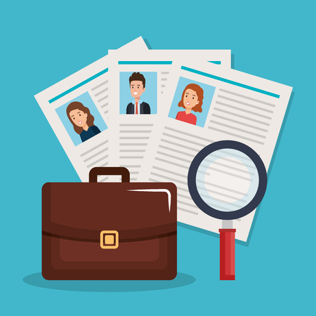 human resources set icons vector illustration design Illustration