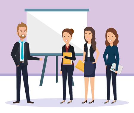 group of people human resources vector illustration design