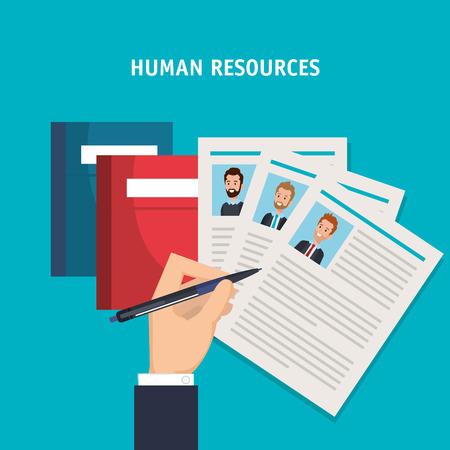 human resources set icons vector illustration design Çizim