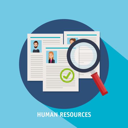 human resources set icons vector illustration design Vectores