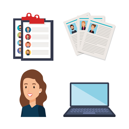 human resources set icons vector illustration design Ilustrace