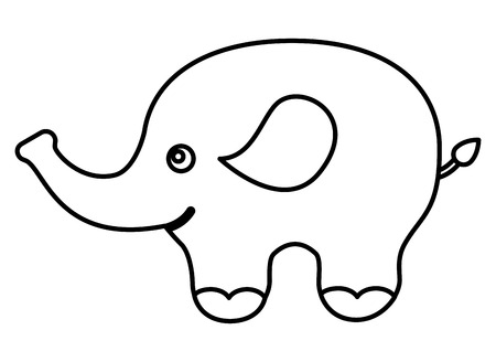 cute elephant character icon vector illustration design