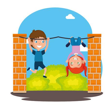 Happy kids image illustration