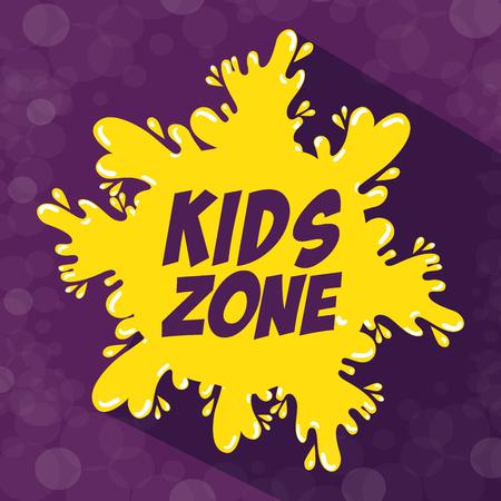 kids zone label splash icon vector illustration design Illustration