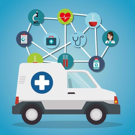 medical service set icons vector illustration design