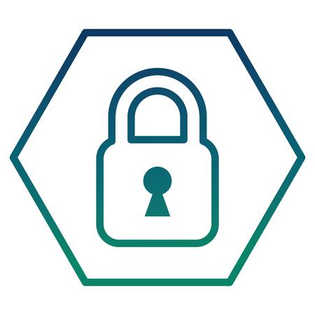 cyber security padlock safety data information vector illustration Illustration