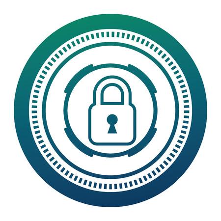 cyber security padlock safety data information vector illustration Archivio Fotografico - 100196746