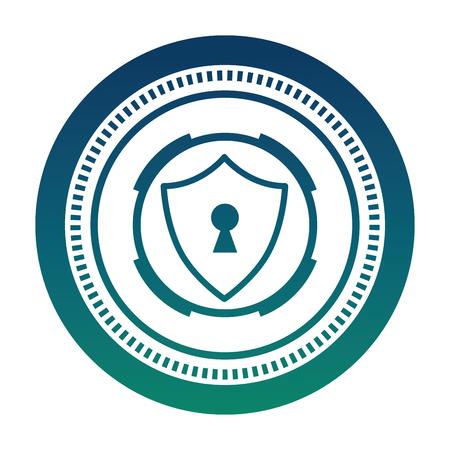 cyber security shield protection keyhole image vector illustration Archivio Fotografico - 100194247