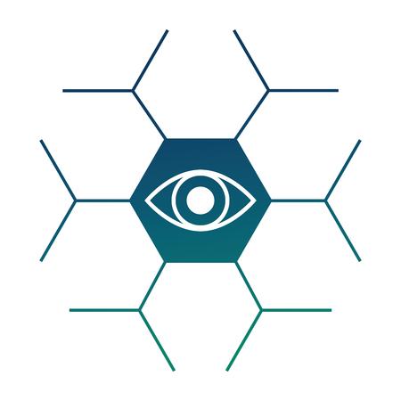 cyber security protection eye web data vector illustration Stock Vector - 100194197