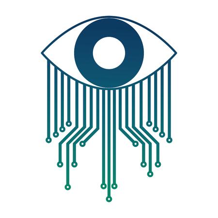 cyber security eye surveillance image vector illustration Stock Vector - 100194242