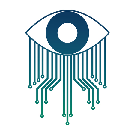 cyber security eye surveillance image vector illustration
