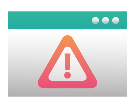 template webpage with alert sign caution icon vector illustration design Ilustração