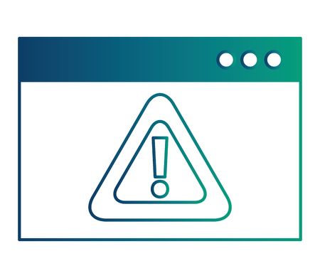 template webpage with alert sign caution icon vector illustration design Illustration