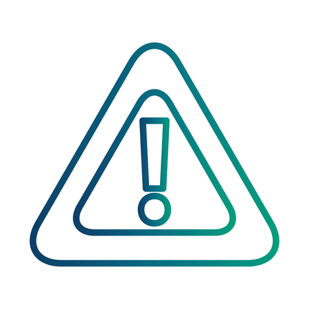 alert sign caution icon vector illustration design