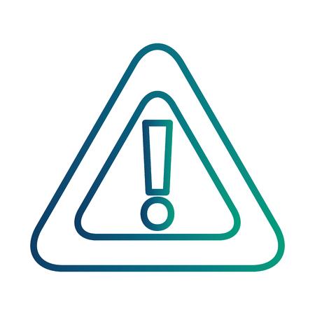 alert sign caution icon vector illustration design