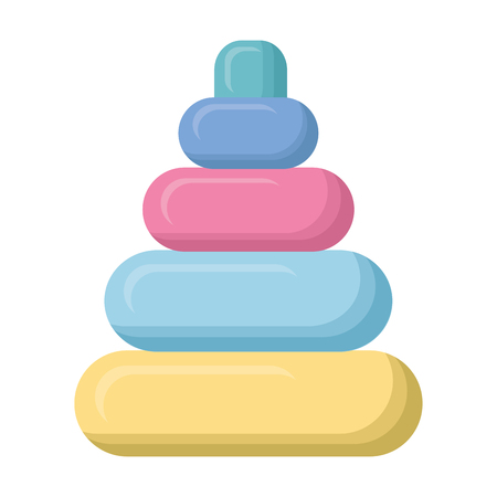 toy baby rings tower isolated icon vector illustration design