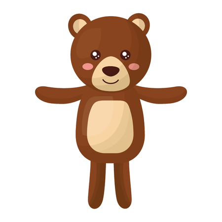 cute teddy bear childish isolated icon vector illustration design 写真素材 - 100197538
