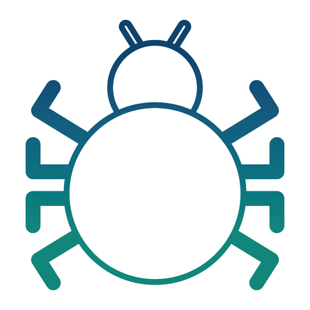 bug virus attack icon vector illustration design