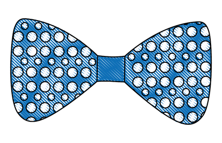 bow tie with points isolated icon vector illustration design Illustration