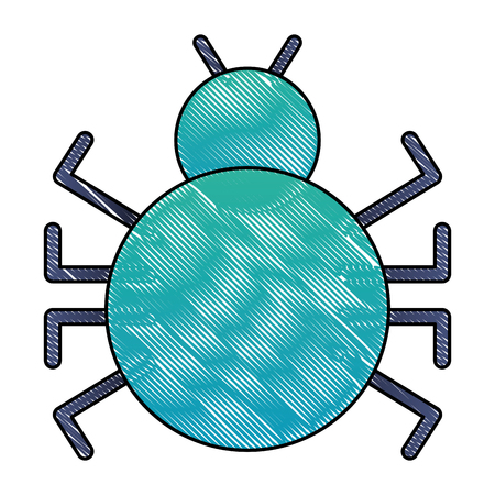 bug virus attack icon vector illustration design