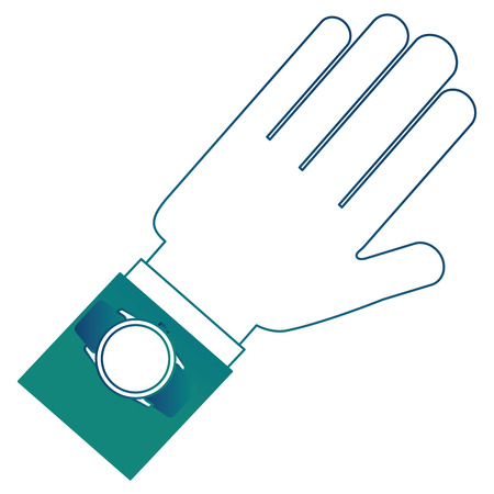 Hand with watch icon Ilustrace