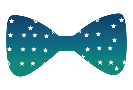 Bow tie with stars icon