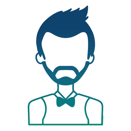 man with beard isolated icon vector illustration design