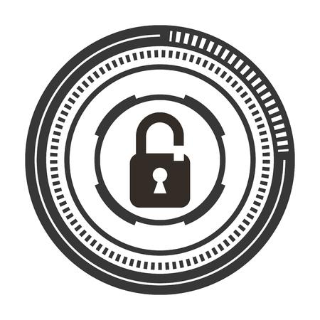 safe secure padlock icon vector illustration design Archivio Fotografico - 100202208