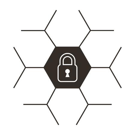 safe secure padlock icon vector illustration design Archivio Fotografico - 100183945