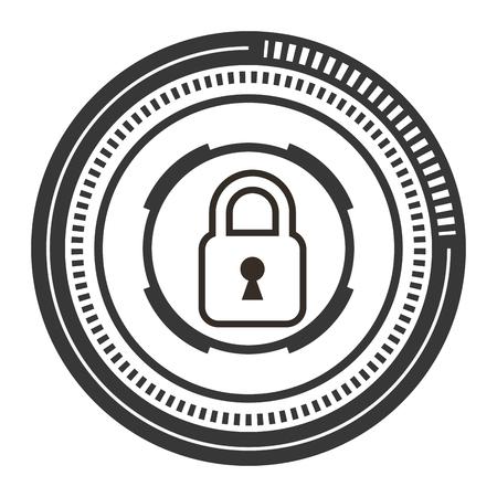 Safe secure padlock icon  illustration design