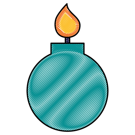 bomb crime cartoon flame image vector illustration drawing 向量圖像