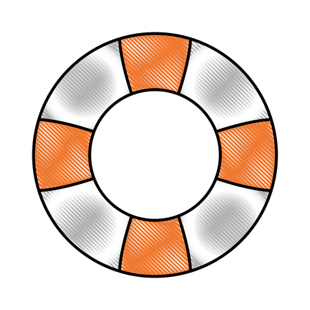 lifebuoy safety float icon design vector illustration drawing
