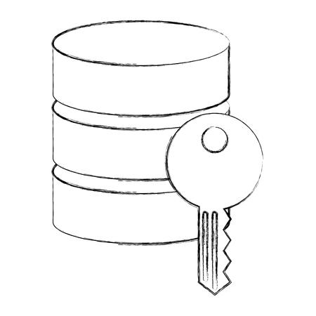 data server center information key security vector illustration