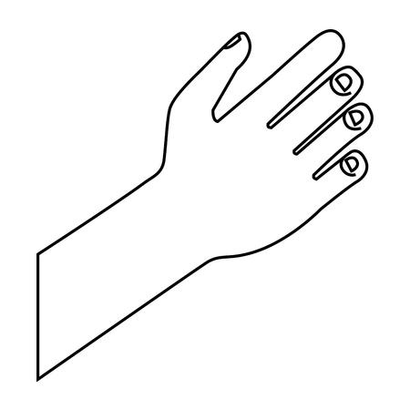 hand human isolated icon vector illustration design Illustration