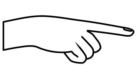 hand human pointing out isolated icon vector illustration design