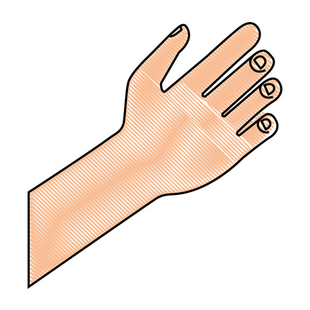 human hand gesture icon image vector illustration drawing