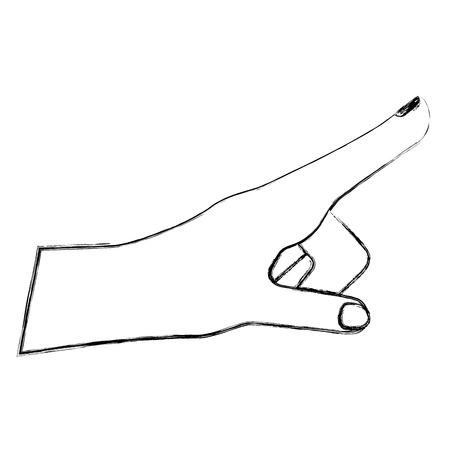 human hand gesture icon image vector illustration sketch