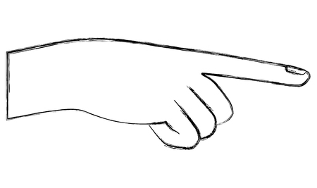 human hand gesture icon image vector illustration sketch